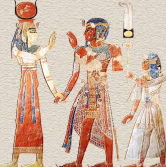 Hathor receives Ramesses III and prince Amenherkhepshef