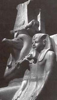 Amenhotep III with  Sobek