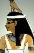 Amentet Wearing a Hawk as a Headdress