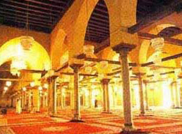 Inside the Mosque of Amr Ibn El-Aas