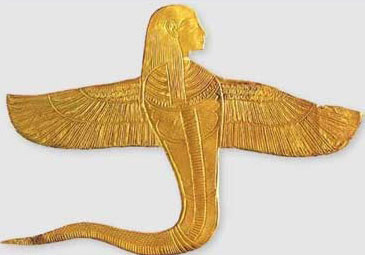 Human headed winged amulet from the tomb of King Tut