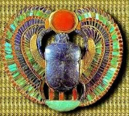 A winged Scarab Amulet from the Tomb of Tutankhamun