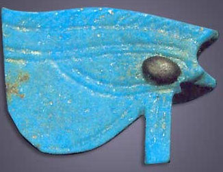 An Eye of Horus amulet, but this one actually the solar eye