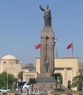 View of Saad Zaghloul Statue with the Opera House in the Background