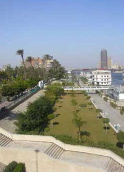 The Pedestrian Walkway along the Nile