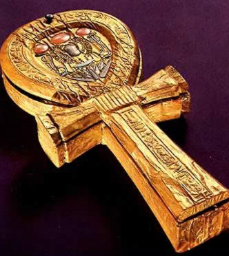 A Mirror Box in the shape of an Ankh