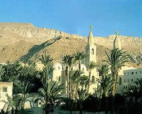St. Anthony's Monastery     in the Eastern Desert of Egypt