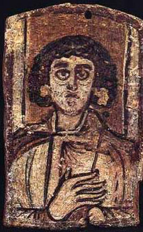 An Icon unearthed at Antinoe