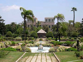 A view of Antoniadis Villa and a part of its Gardens
