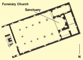 Floorplan of the Funerary Church at the Apa Bane Monastery