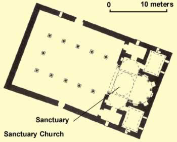 Floorplan of the Sanctuary Church at Apa Bane