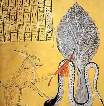 The Heliopolis Cat (Re) defeats the Apophis Serpent