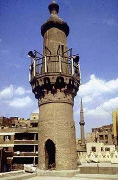 The Minaret of the mosque of al-Aqmar is of later date