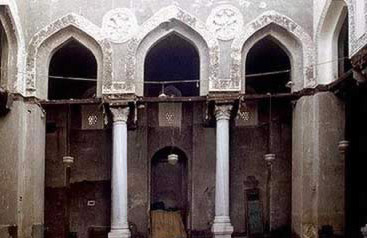 The Qibla arcase from the courtyard