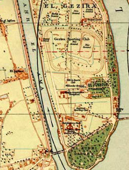 An older map of the southern Island of Zamalek