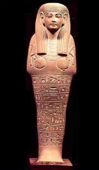 Funerary figure of the  Adjutant Hat from the 18th Dynasty