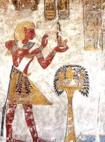 Ramesses III in a  typical Egyptian pose from his tomb in the Valley of the Kings