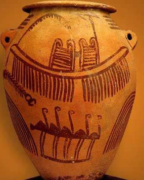 Jar with Painted  Decorations form the Naqada II Predynastic Period