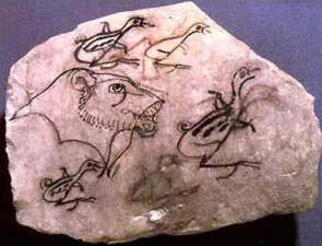 Ostracon of Animals  dating to the New Kingdom