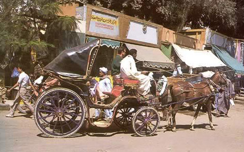 The Aswan Bazaar and a Carriage