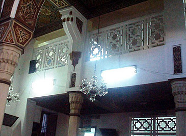 A view of the unusual dikka of this mosque