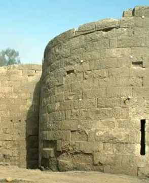 Part of the ancient wall of Salah el-Din restored in the Al-Azhar Park