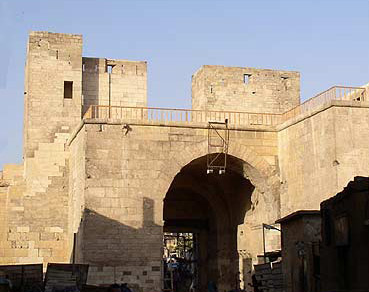 A view of the back side of Bab al-Nasr