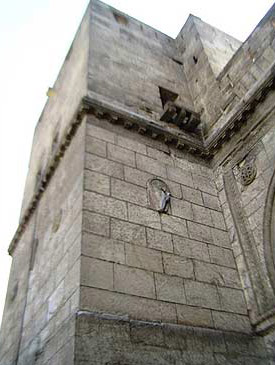 A view up the left tower of Bab al-Nasr