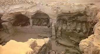 Greek Period tombs  in the Valley of the Golden Mummies