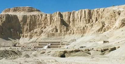 The Temple of Hatshepsut at  Deir el-Bahri on the West Bank at Luxor