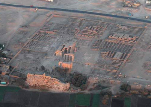 The Ramesseum by Balloon over Luxor's West Bank in Egypt