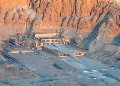 The Mortuary Temple of Hatshepsut on the West Bank at Luxor, Egypt