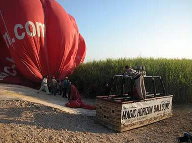 Our Balloon flight was made possible by Magic Horizon Balloons, though we paid full price!