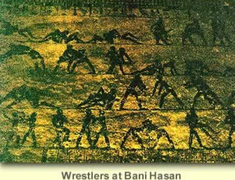 A famous depiction of wrestlers at Beni Hasan