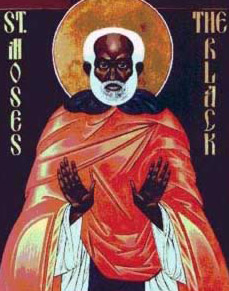 Moses the Black  (graphic not from this monastery)