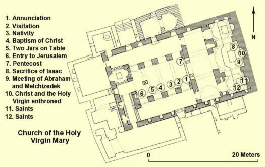 Floorplan of the Church of the Virgin Mary