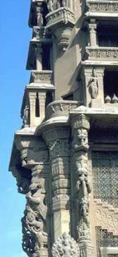 Corner detail of the Baron's Palace