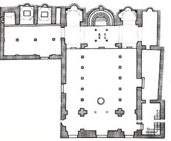 Ground plan of the Church of Saint Barbara