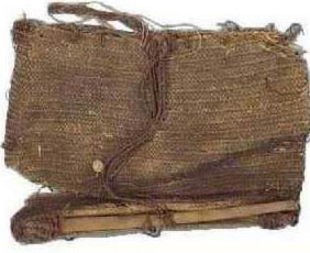 Ancient bag made using basketry techniques (from Egypt)