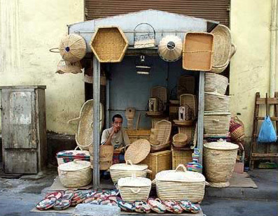 A basket ventor in Cairo