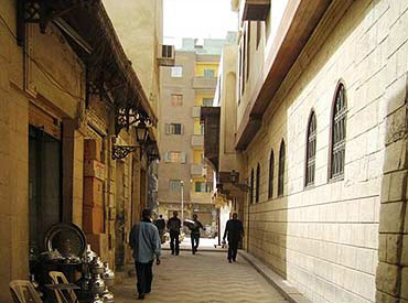 El DArb El Asfar with the Suhaymi house on the right