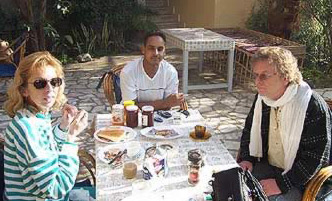 Left: Diaa, Center: Momo (not a member of the board), Right Sonny in upper Egypt