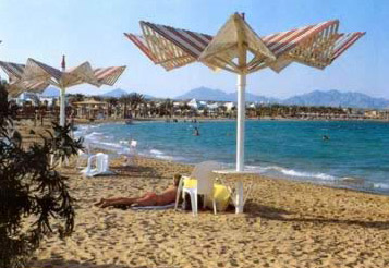 Relaxing on the  beach at Sharm el-Sheikh