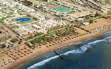 A good view of the grand resorts of Naama Bay at Sharm el-Sheikh