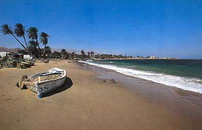 One of the uncrowded beaches of Dahab on the eastern Sinai
