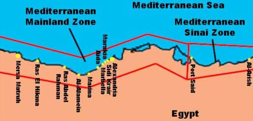 Beach Vacations In Egypt Part II Egypts Mediterranean Coast - Map of egypt holiday resorts