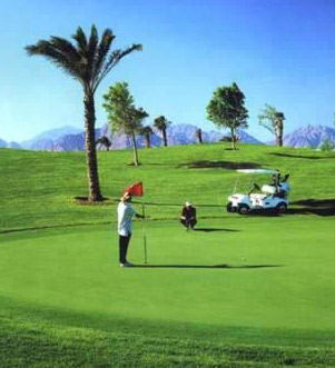 The professional level golf course at the Movenpick Jolie Ville at Sharm el-Sheikh