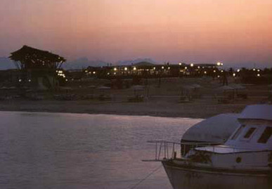 An evening view of a beach at Hurghada