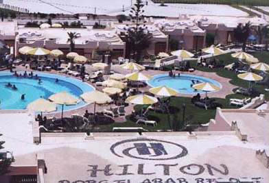 The Borg El  Arab Hilton Resort near Alexandria on the North Coast