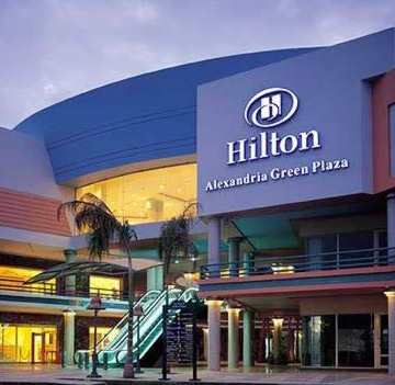 The Beautiful  Hilton Alexandria Green Plaza